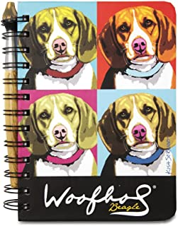 Pavilion Gift Beagle Woofhol, Journal and Pen Set, 5 X 7 Inches, 12088