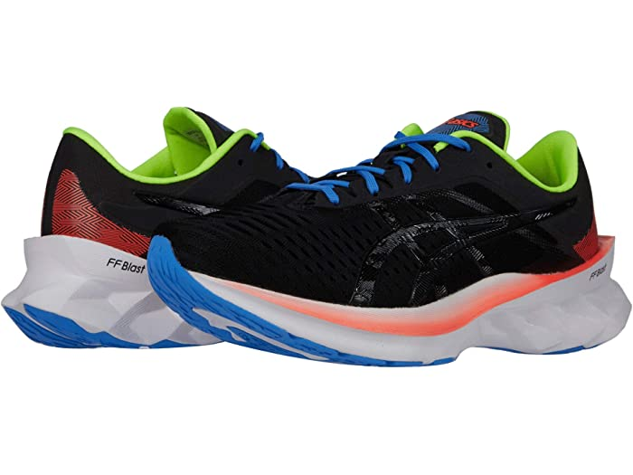 Black Sports Breathable Asics Mens Novablast Running Shoes Trainers Sneakers