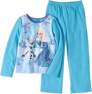Frozen Princess Elsa and Snowman Olaf Flannel 2 Piece Girls Pajama Set