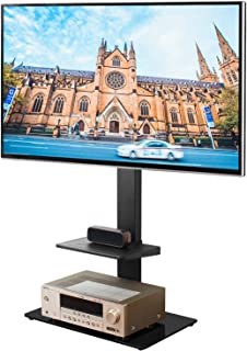 Rfiver Swivel Floor TV Stand with Universal Mount for Most 32