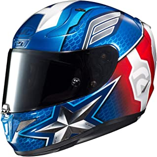 HJC Unisex-Adult Full Face RPHA-11 PRO Marvel Captain America Motorcycle Helmet (Red/White/Blue, XX-Large)