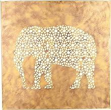 Foreside FWAD03766 Elephant Screen Wall Art