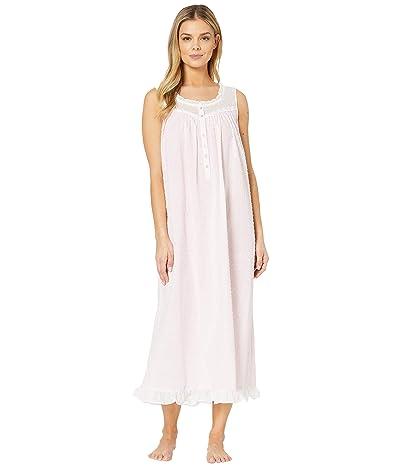 Eileen West Cotton Swiss Dot Woven Sleeveless Ballet Nightgown (Rose) Women