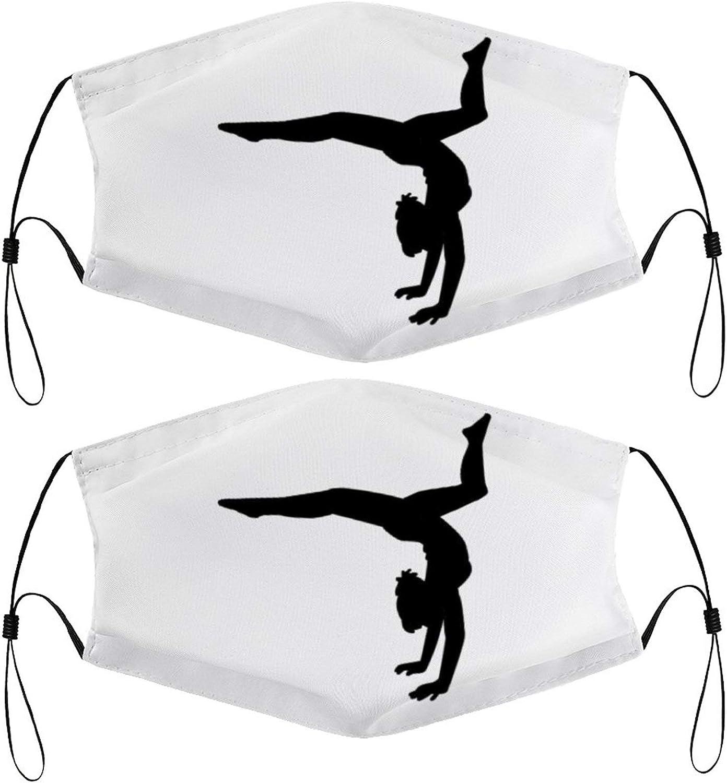Dance Gymnastic Ballet Women Girls Teens Kids Face Mask Set of 2 with 4 Filters Washable Reusable Adjustable Black Cloth Bandanas Scarf Neck Gaiters for Adult Men Women Fashion Designs