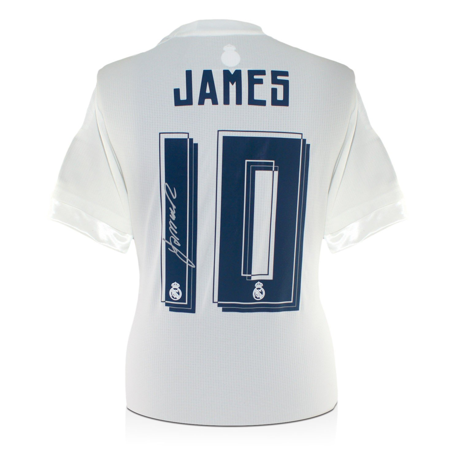 exclusivememorabilia.com James Rodríguez firmó 2015-16 Camiseta Real Madrid Fútbol: Amazon.es: Deportes y aire libre