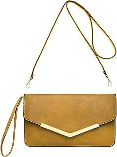 5b6bccd9a0 CRAZYCHIC - Grand Portefeuille Long Style Cuir PU - Pochette Soirée  Enveloppe Femme - Mini Sac