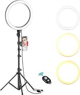 "10"" Selfie Ring Light with Tripod Stand & Cell Phone Holder for Live.."