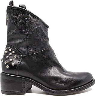 A.S. 98 548204 Bottes femme en cuir noir avec fermeture éclair