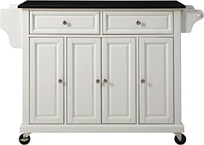 Amazon Com Crosley Furniture Full Size Kitchen Cart With Solid Black Granite Top White Kitchen Islands Carts