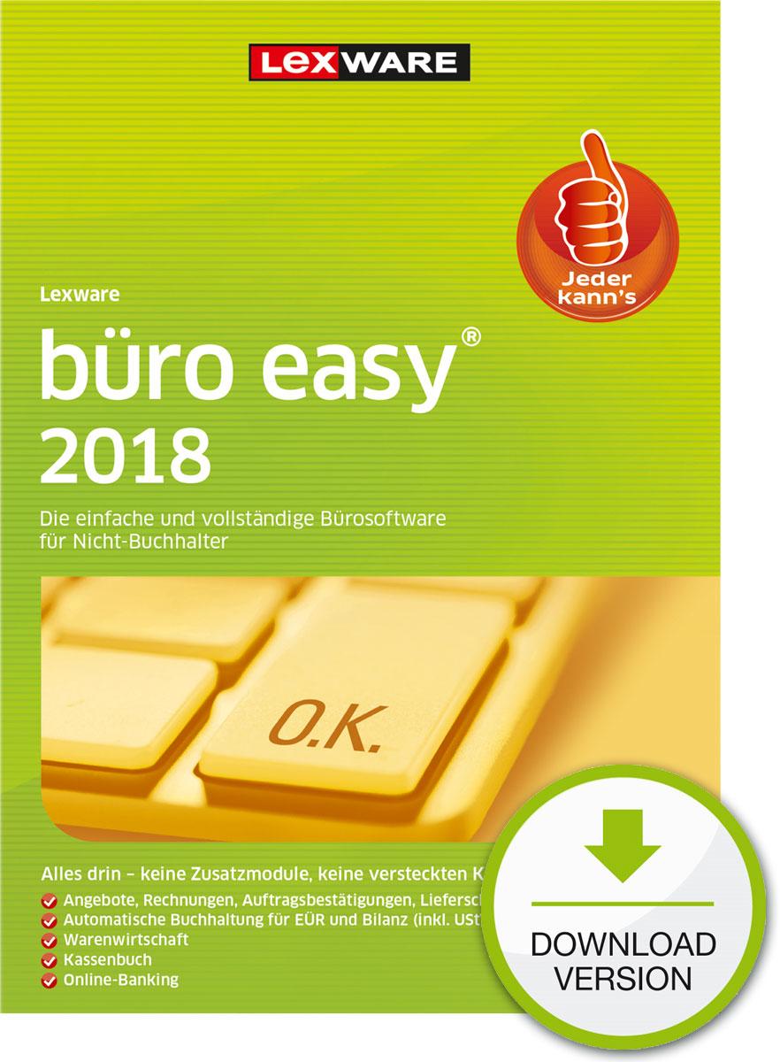 Lexware büro easy 2018 Download Jahresversion (365-Tage) [Online Code]