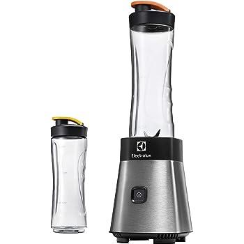 Electrolux ESB2500 Sportsblender Mini Frullatore, Funzione Frappè, 23.000 Giri/min, 300 W, 0.6 Litri, Plastica, Argento/Nero