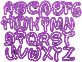 dragonaur letras del alfabeto Fondant Cake Molde para repostería para galletas molde herramienta de DIY