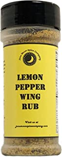 Premium | LEMON PEPPER Wing Seasoning Dry Rub Dust | Large Shaker | Crafted in Small Batches with Farm Fresh SPICES for Premium Flavor and Zest