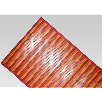 55x140 Confezioni Giuliana Tappeto Bamboo sfumato passatoia Cucina e Multiuso Viola Lilla