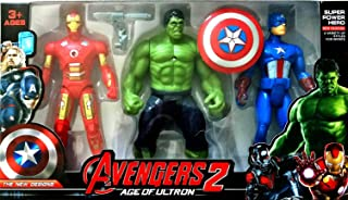 Marvel Avengers - Age Of Ultron - 18cm Action Figures: Iron Man, Hulk and Captain America Set