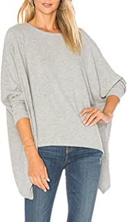 ALLY-MAGIC Womens Baggy Batwing Long Sleeves Tops Slouchy Pullover Casual Loose Blouse
