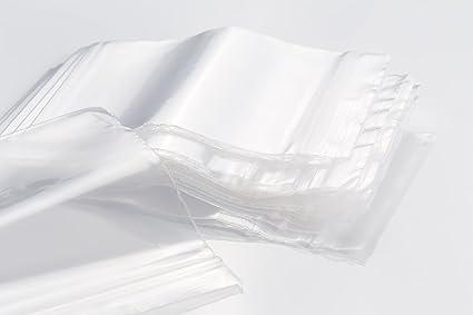 Sacchetti zip 35x55mm 50µ chiaro trasparente con schnellverschluß druckverschluß BAGS