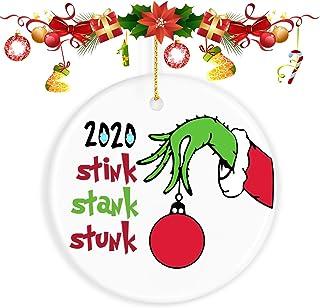 ValueVinylArt 2020 Christmas Ornaments Quarantine, The Grinch Christmas Decor Funny Home Decor Christmas Tree Decoration -...