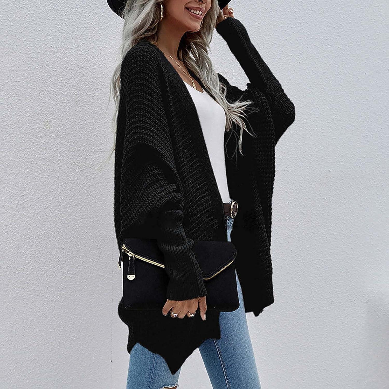 Women Open Front Cardigan Sweater Loose Fit Long Sleeve Knit Sweater For Women Elegant Winter Coats For Women