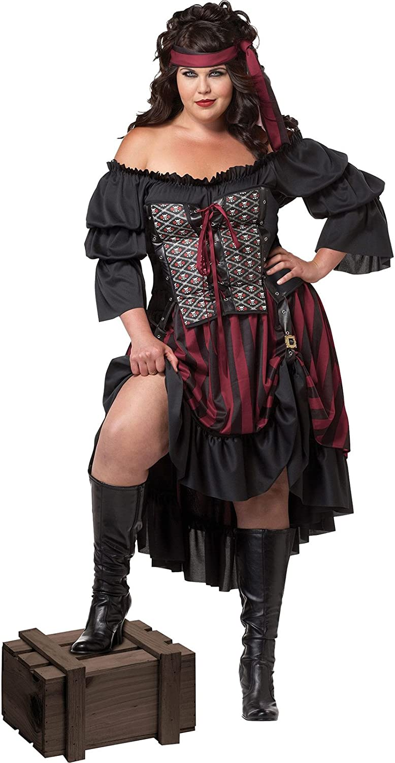 ahorra hasta un 30-50% de descuento California Costumes Wohombres Plus-Talla Pirate Pirate Pirate Wench Plus, negro Burgundy, 2X