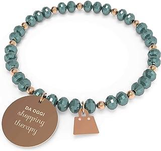 10 Buoni Propositi Bracciale Donna Shopping Therapy Collezione Crystal Rose Gold