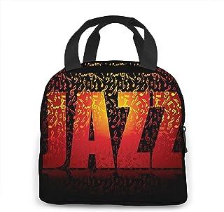 N\A Boîte de Rangement Jazz Text Lunchbox pour Femmes/Hommes, Enfants, Travail, école, Pique-Nique, Sac à bento pour déjeu...
