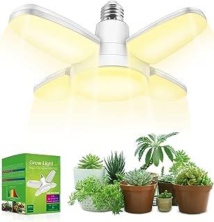 LED Grow Light , Grow Light Bulb Fan Light Bulbs Full Spectrum, Weegrow Plant Light 20w 230V E26 Base, 150W Equivalent, 35...