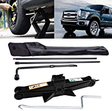Spare Tire Tool Kit for Ford Super Duty F250 F350 F450 F550 2003-2007 Replacement Set Repair Tool & 2 Ton Scissor Jack Handle Kit, USA Stock