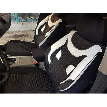 Schwarz-graue Sitzbezüge für AUDI A4 Autositzbezug Komplett