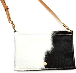 Black and White Hair-On Cowhide Cross-body to Waist Bag