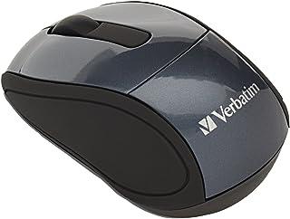 "Verbatim 97470 Wireless Mini Travel Mouse, 2""x3""x1-1/4, Graphite"