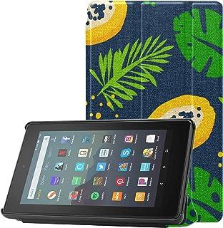 Etui na Kindle Fire Hd 7 2019 pomarańczowe kremowe i czarne etui Papaya do tabletu Kindle Fire 7 do Fire 7 (9. generacji, ...