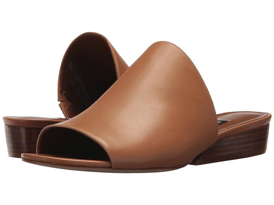 Nine West Lynneah Slide Sandal (Dark Natural Leather) Women