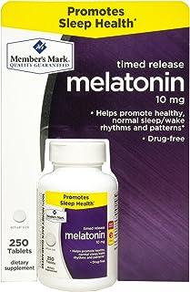 Member's Mark Time Release Melatonin 10 mg 250 Tablets