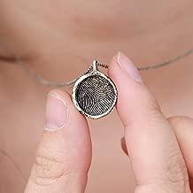 Personalized Finger Print Necklace, Finger Jewelry, Custom Finger Print, Finger Sterling Silver, ODDBLANC