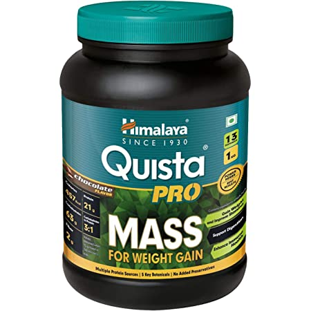 Himalaya Quista Pro MASS For Weight Gain - 1kg (Chocolate) | Weight Gainer with the Goodness of Ayurveda