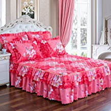 Thicken Mattress Cover,Quilted Bed Skirt,Filling Mattress Cover Mattress Protector Single Double Can Be Used,Skirt Design,...