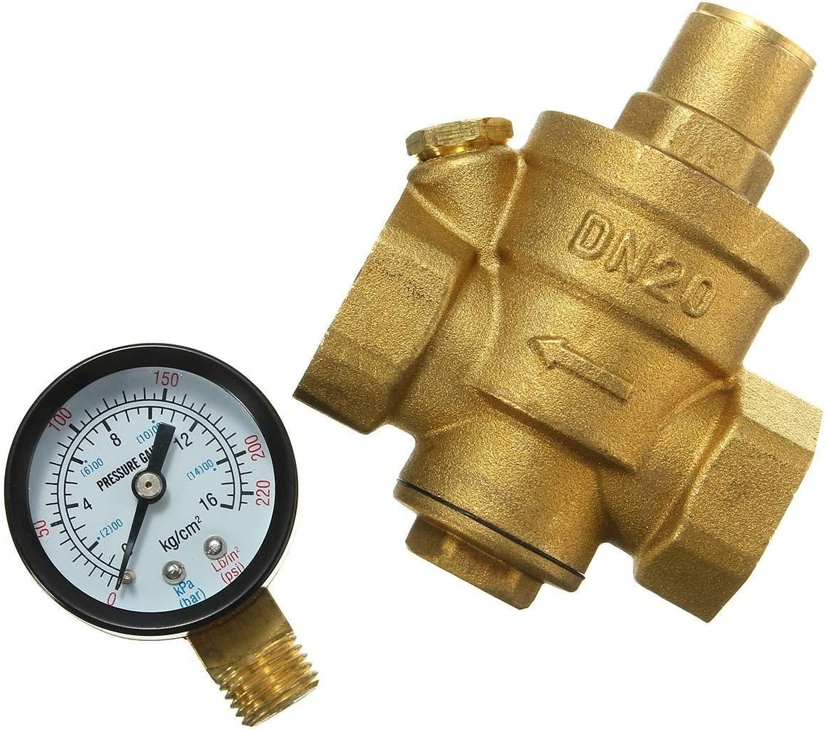 GUOCAO with Gauge Flow Adjustable Pressure Super popular specialty store Water Reducing Brass Sales results No. 1