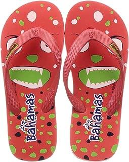 BAHAMAS Unisex Kid's Red Fl. Green Slippers-10 Kids UK (28 EU) (BHK008C_RDFG0010)