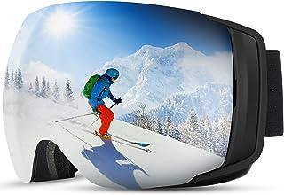 comprar comparacion 2019 Nuevo TDW Gafas de Esquí Anti-niebla, Lente magnética con Hebilla fija con Protección 100% UV, Esponja de 3 Capas,C...