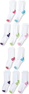 Hanes Girls' 10 Pack Crew Socks