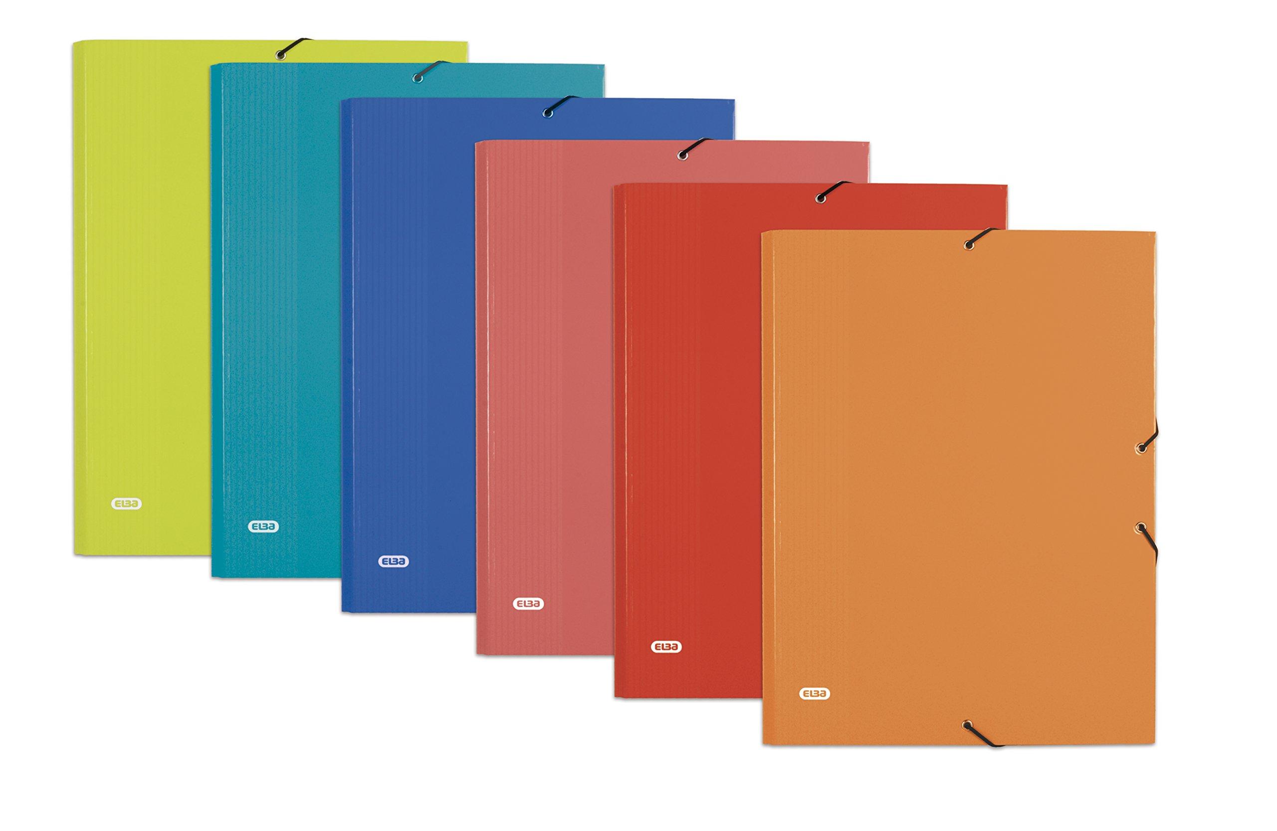Elba Color Life 400087186 - Caja de 12 carpetas de gomas cartón forrado: Amazon.es: Oficina y papelería