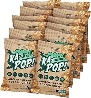 Ka-Pop! Popped Chips, Olive Oil & Sea Salt (1oz, Pack of 12) - Allergen Friendly, Ancient Grains, Gluten-Free, Paleo, Non-GMO, Vegan, Healthy, Whole Grain Snacks