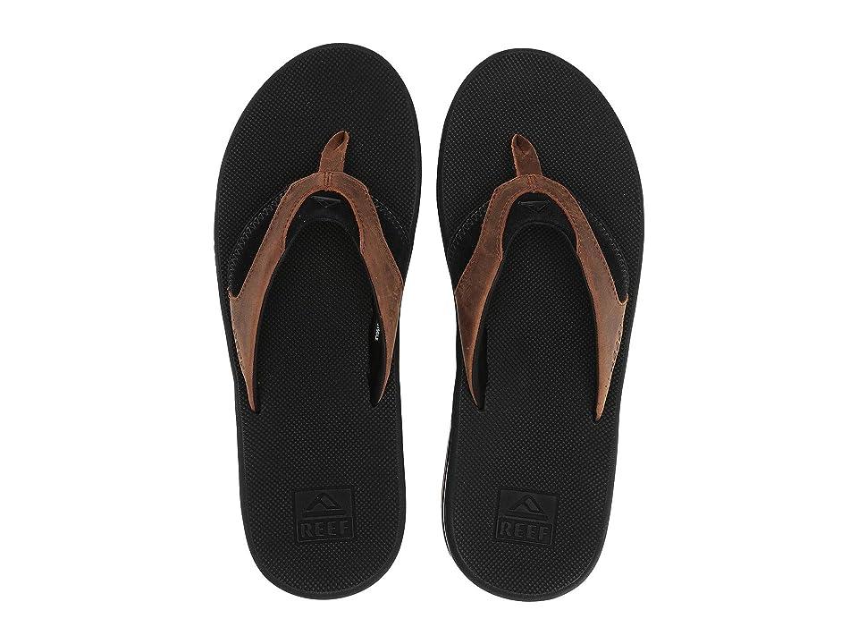 Reef Fanning Leather (Black/Bronze) Men's Sandals