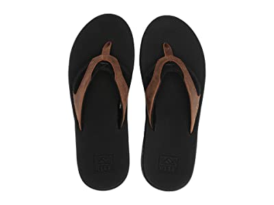 Reef Fanning Leather (Black/Bronze) Men