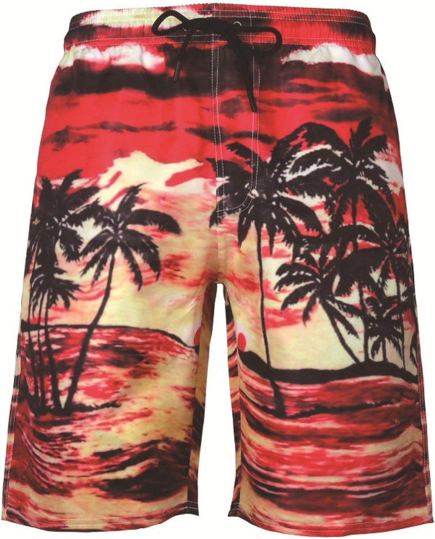 Segindy Men's Quick Dry 1 year warranty Beach Loo Summer Printing Shorts Nippon regular agency Fashion
