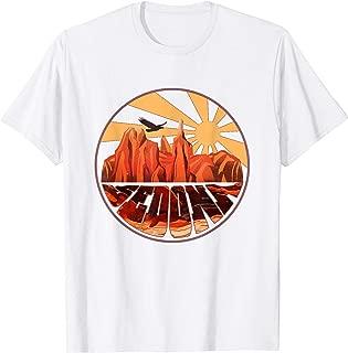 Retro Vintage Sedona Arizona T Shirt Hiking Sunset Dawn Gift