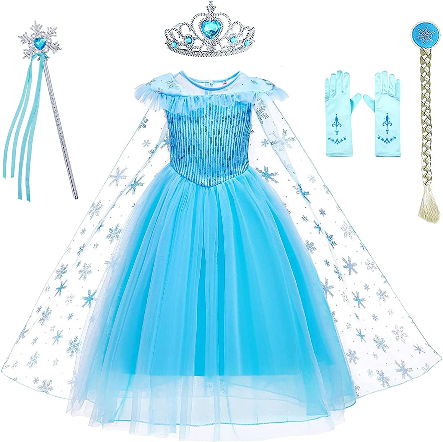 Avady Princess Costumes Birthday Dress Over item handling ☆ for Gir Up Clothes Houston Mall Little