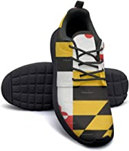 Maryland Flag 2 Lady Flat Bottom Casual Shoes Simple Classic Running Shoes