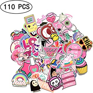 Girl Cute Cartoon Laptop Stickers Car Skateboard Motorcycle Bicycle Luggage Guitar Bike Decal 110 PCS (Cute Sticker 110 PCS)